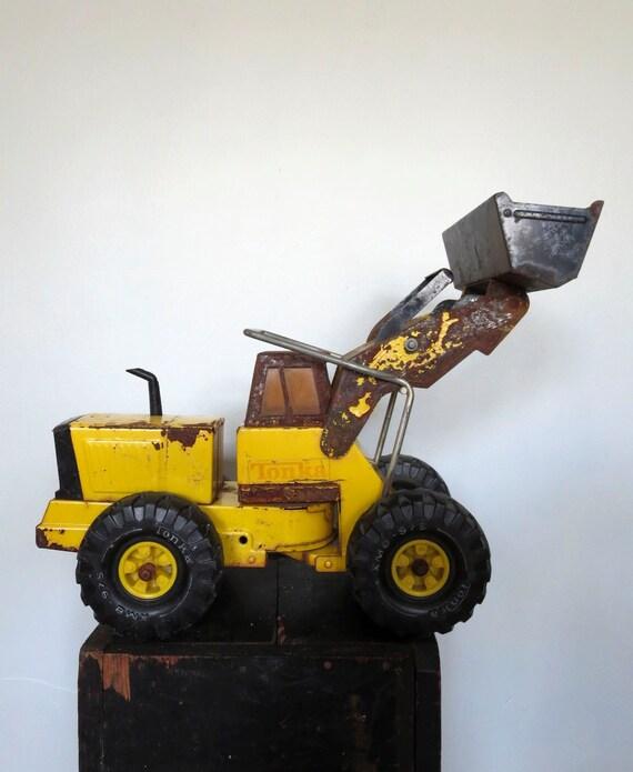Vintage Tonka Tractors : Vintage tonka front end loader xmb pressed steel toy