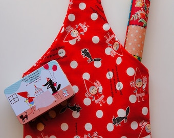 Handmade tie top luch bags/shoulder bag/eco friendly bags/gym bags/cotton bags for kid