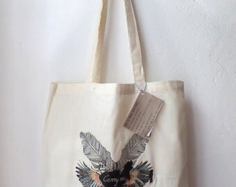Cotton bag 'Carry Me' with long straps