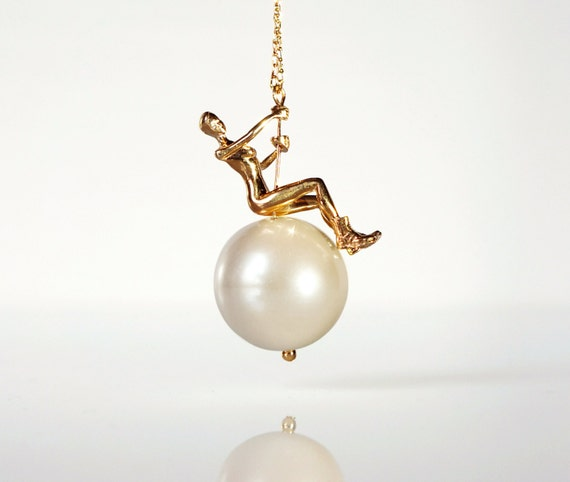 The World is Your Oyster - Wrecking Ball Pearl Necklace by TO+WN DESIGN