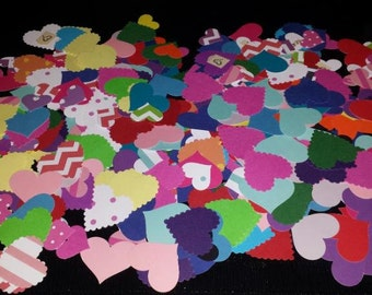 PP6 - 30 Random Heart Punches with adhesive square backing