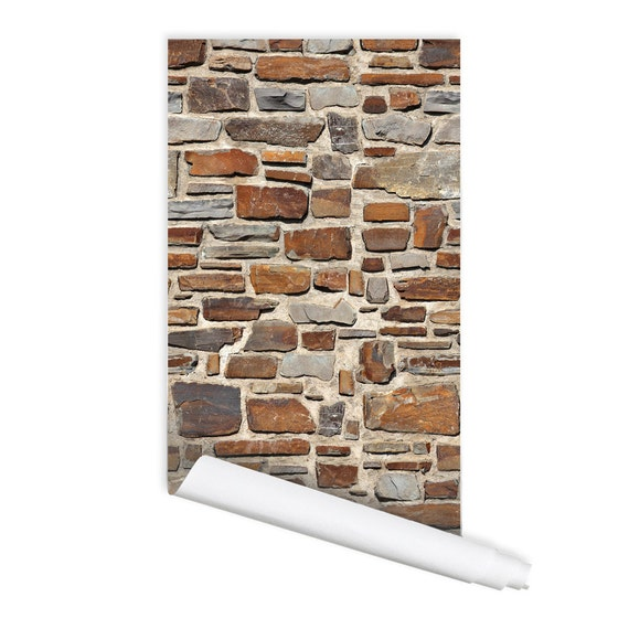 Peel And Stick Textured Wallpaper: Stone Texture Luca Self Adhesive Peel & Stick Repositionable
