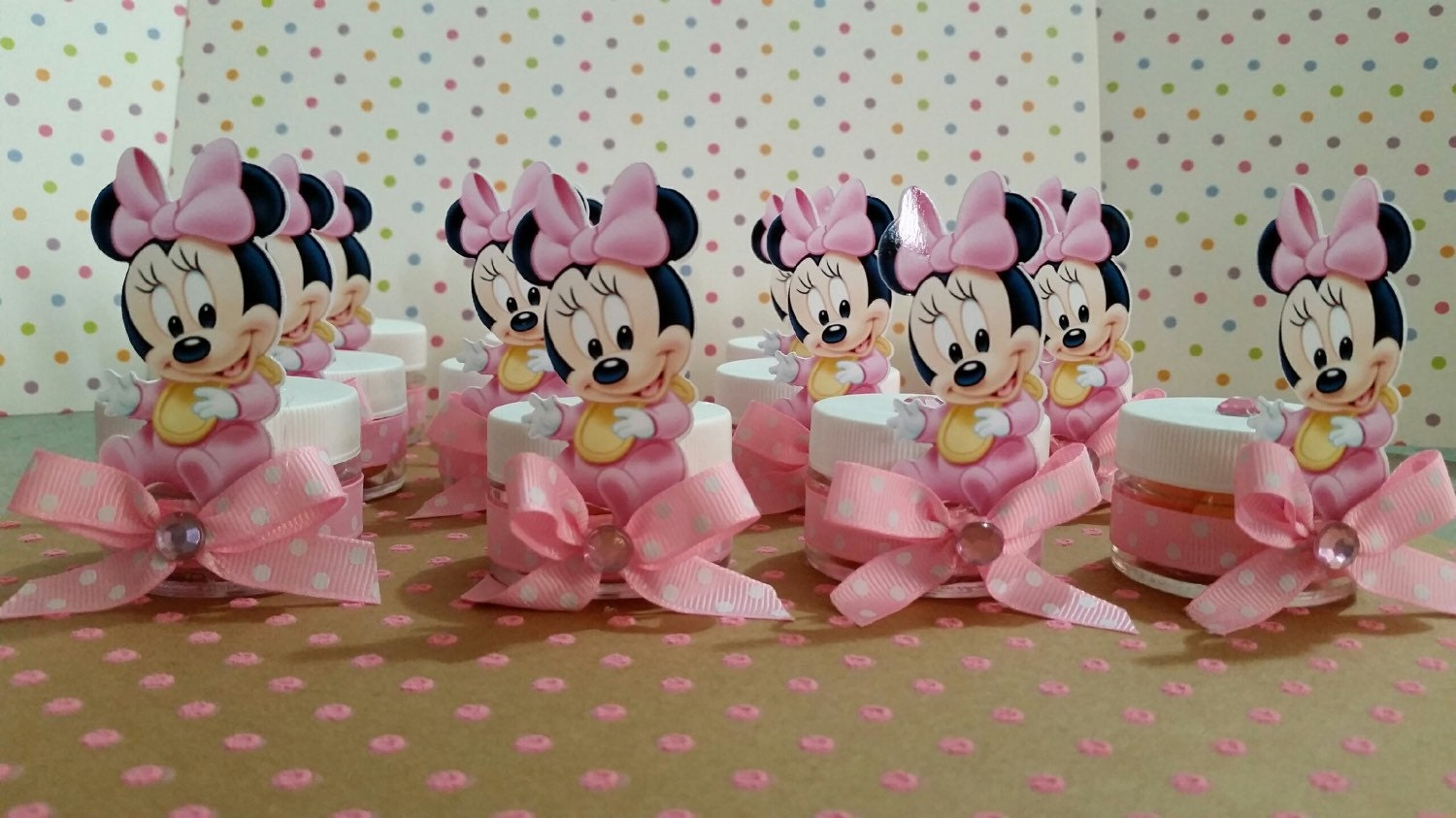 baby minnie mouse baby shower party favors baby shower favors. Black Bedroom Furniture Sets. Home Design Ideas