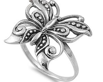 Butterfly Ring Sterling Silver 925