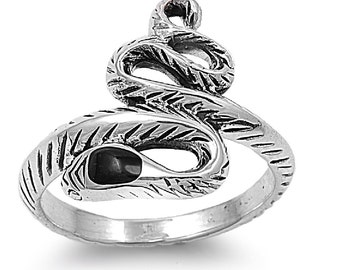 Snake Ring 18MM Sterling Silver 925