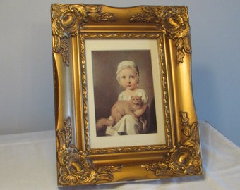 Framed Art Print of Gabrielle Arnault as a Child, Louis Léopold Boilly Print, Framed Picture, Home Decor, Wall Decor, laslovelies