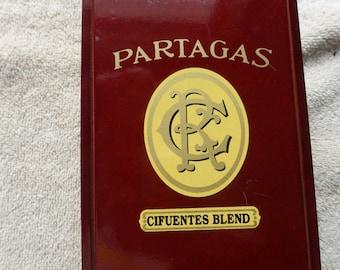 CLEARANCE/SALE Cigar Box Partagas Beautiful Cigar Box (Cifuentes Blend) Mint Shape 7 x 3 x 4  Jewelry Box