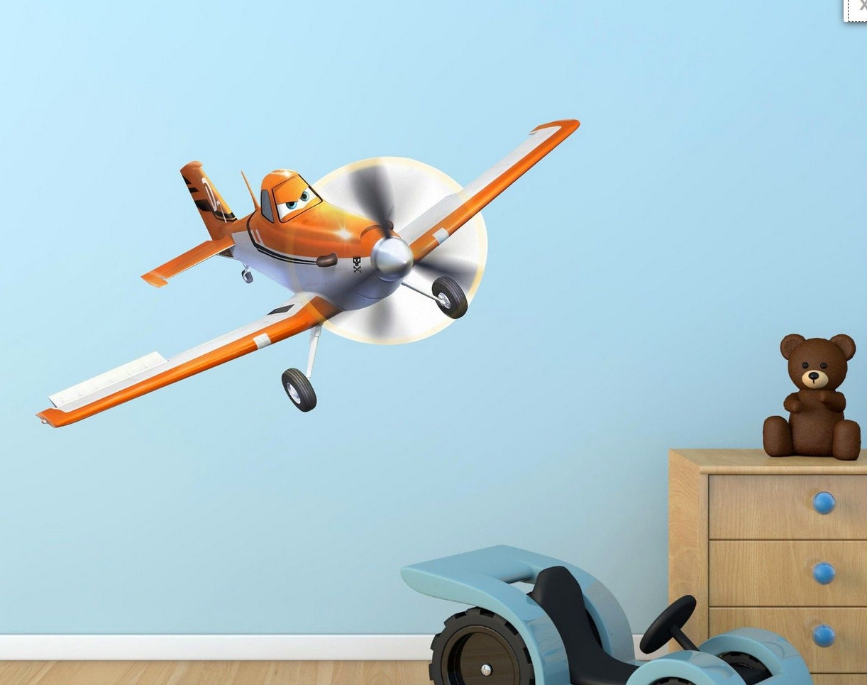 Disney pixar planes wall sticker mural decor by wallmakeoveruk for Disney planes wall mural
