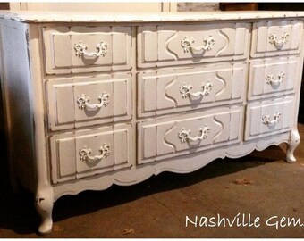 SOLD: 9-Drawer French Provincial Dresser / Buffet