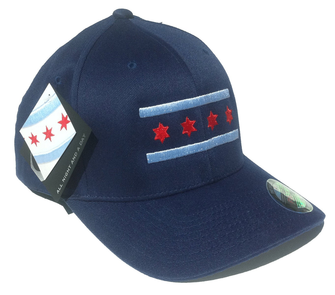Blackhawks Flag Hat Navy Chicago Flag Hat