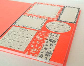 Sticky Notes booklet / set bright & colorful