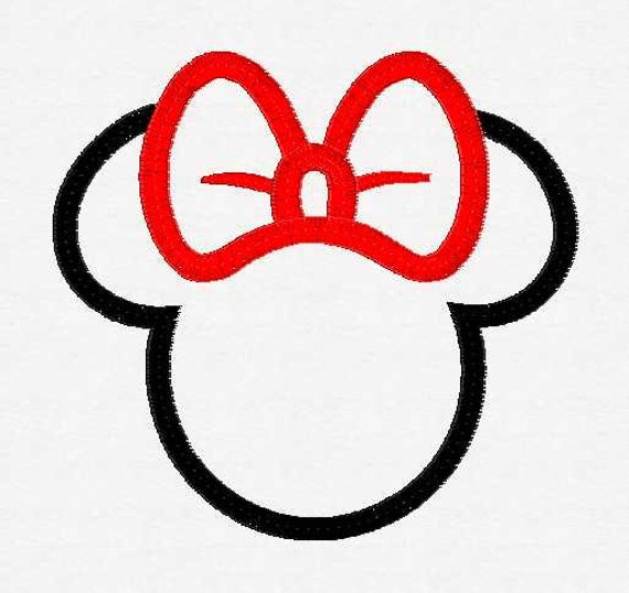 Minnie Mouse Bow Outline Minnie Mouse Head With a Bow