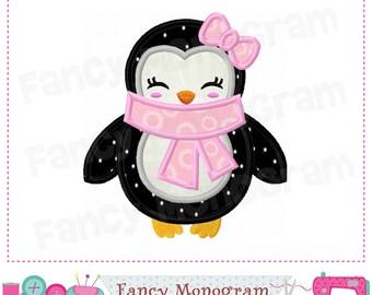 Penguin applique,Christmas,Penguin,New Year,Penguin embroidery,Penguin design,Girl applique,Penguin,Winter,Winter applique,Winter design.-04