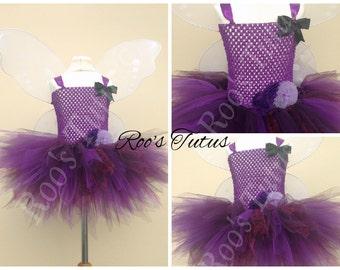 Vidia Fairy, (Tinkerbell) inspired tutu dress costume (Handmade). Fairy dress up
