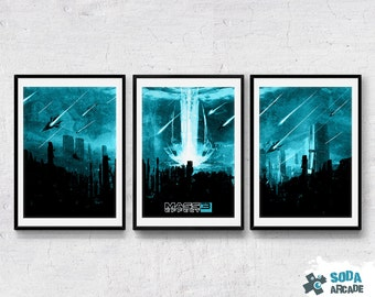 Mass Effect: Reapers Invasion, 3 poster set prints/posters