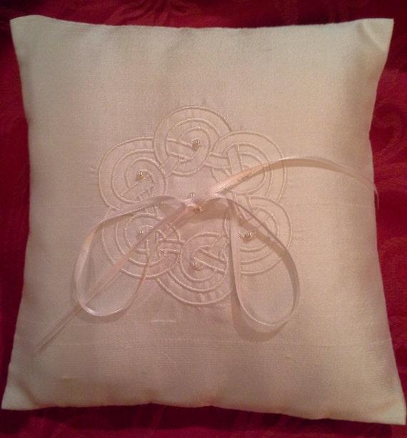 Satin Pillowcase Dublin: Celtic Circle Ring Cushion/ Pillow By ClaraGifts On Etsy