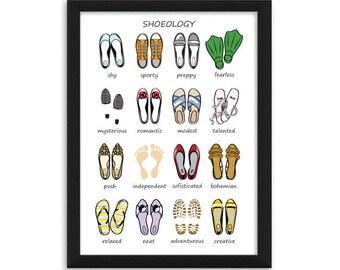 Stylish Shoelogy Shoes Personality Fashion Illustration Art Print