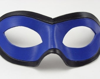 Leather Domino, two toned mask, Cosplay Costume, Leather Mask, Super Hero Mask, Easy Cosplay, Dress up mask