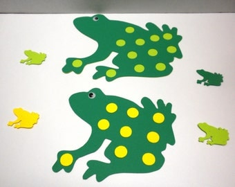 12 Frog  Die Cuts -Scrapbooking, Die Cuts,Frogs,Embellishments, Craft Supplies-DCFRG-26