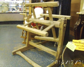 Early 1800's Yarn Blocker/Spinning Wheel