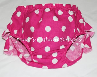 Minnie's Bloomers Polka Dot matching Outfit Set - Polka Dots Diaper Cover Set - Disney's Nappy Cover Babies Girl