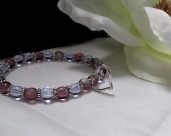 Handmade Light Purple Stretch Bracelet