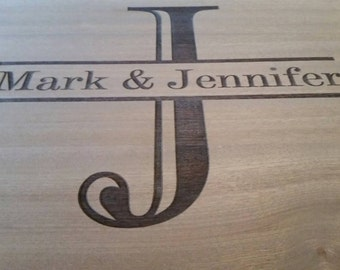 Wedding Engraved Kitchen Cutting Boards LARGE LETTER