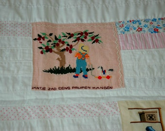 Dutch baby quilt with embroidery