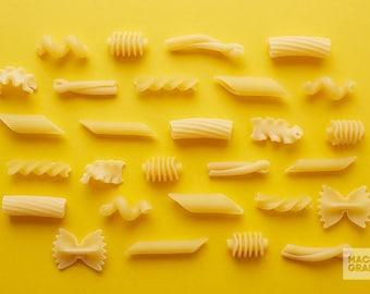 Pasta Photo Art Print, Kitchen Wall Art, Restaurant Decor, Food Photography