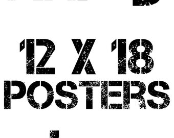 """Any 3 12""""x18"""" Posters Package Deal"""
