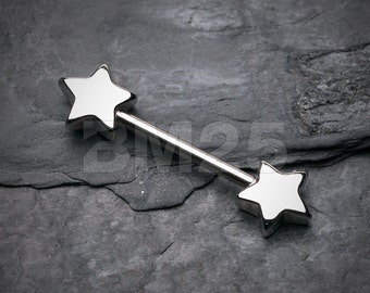 Classic Star Nipple Barbell Ring