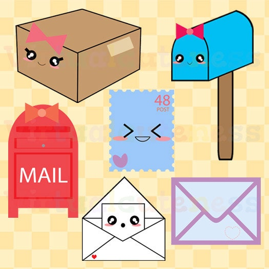 Cute restroom clip art bathroom clipart toilet daily planner - Cute Happy Mail Clipart Mailbox Clip Art Postal Penpal