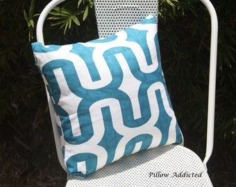 16x16 Pillow Cover with Invisible Zipper in Turquoise Embrace