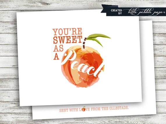 you u0026 39 re a peach thank you notes sweet as a peach thank