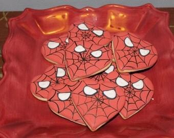 spiderman valentines day cookies