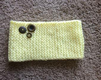 Yellow knitted headband