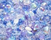 50g Lavender Blue Czech Glass Bead Mix, mixed beads, bead mix, glass beads, Czech glass