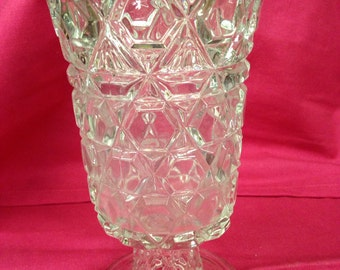 Footed Pressed Glass Celery or Spooner - Great Gift