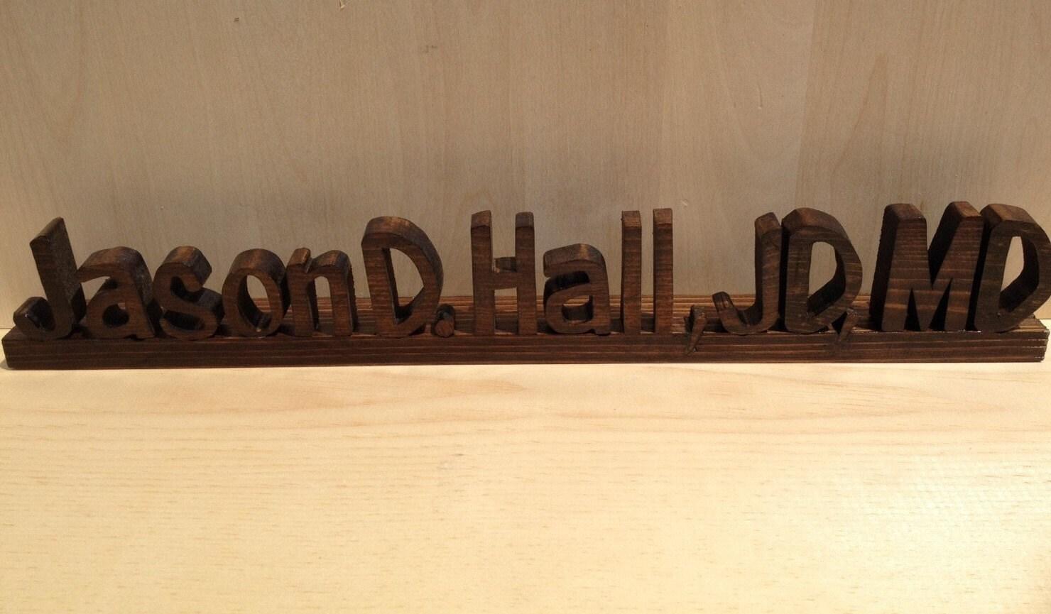 Custom Wood Name Plate