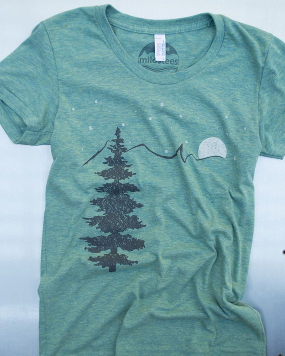 Mountain t shirt mountains gift screen print on american for American apparel t shirt design