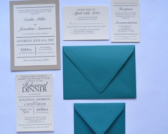 Full Wedding Invitation Suite- The Chittenden