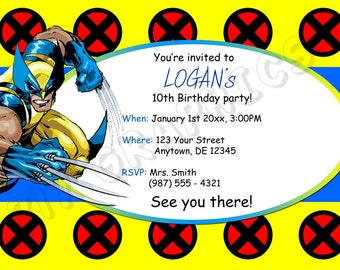 Wolverine Birthday Invitation - Printable