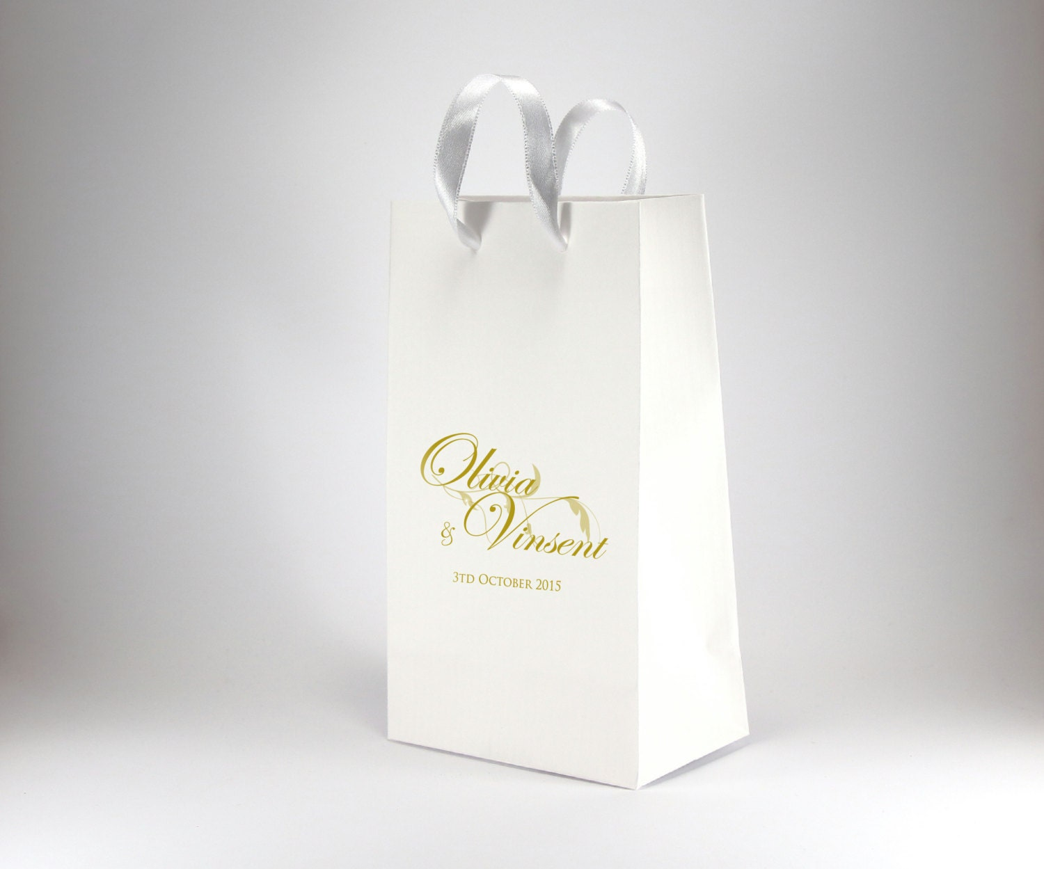 Wedding Gift Bags Printed : 100 Printed Wedding Favor Bags with Handles by stoykaspaperie