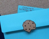 Chocolate chip cookies! Hand crafted out of premium cardstock. Use for scrapbooking, cookie monster envelopes or invitations, recipe cards..