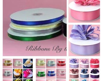 """1/8"""", 10 Yards Double Face SATIN RIBBON. Choose Your Color"""