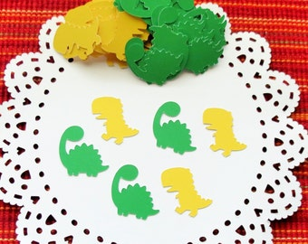 FREE SHIPPING - Dinosaur Confetti,120 pieces,  Party Confetti, Die Cuts