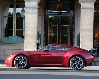 Poster of Aston Martin V12 Zagato Left Side HD Print