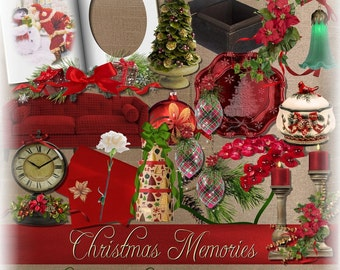 Christmas Digital Scrapbooking Kit