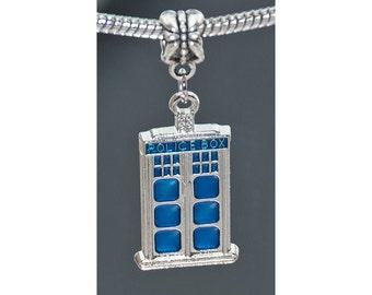Doctor Who Tardis Charm Bead - Fits European Charm Bracelets