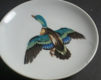 Mallard Duck, Saucer, Hand Painted, In Japan, Home Decor, Collectible